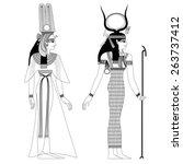 egyptian ancient symbol ... | Shutterstock .eps vector #263737412