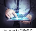 share work and navigate with... | Shutterstock . vector #263742215