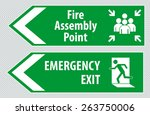 fire assembly point and... | Shutterstock .eps vector #263750006