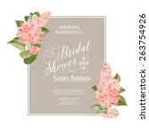 bridal shower card background...   Shutterstock .eps vector #263754926