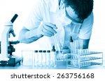 male medical or scientific... | Shutterstock . vector #263756168