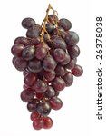 bunch of blue grapes   isolated ... | Shutterstock . vector #26378038
