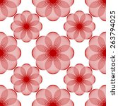 seamless pattern of simple... | Shutterstock .eps vector #263794025