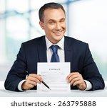 sales occupation  sleaze  evil. | Shutterstock . vector #263795888