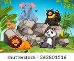 Poster Of Wild Animals Sitting...