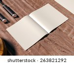 mock up template with cooking... | Shutterstock . vector #263821292