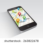 digitally generated map...   Shutterstock .eps vector #263822678