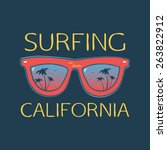surf illustration typography... | Shutterstock . vector #263822912
