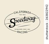stamp of speedway racing for... | Shutterstock . vector #263822942