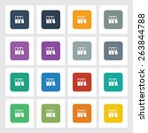 very useful flat icon of... | Shutterstock .eps vector #263844788