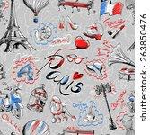 seamless wallpaper. the texture ... | Shutterstock .eps vector #263850476