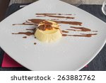 pumpkin savory cupcake on a... | Shutterstock . vector #263882762