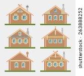 set of vector flat style... | Shutterstock .eps vector #263888252