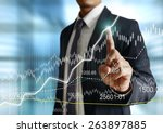 businessman with financial... | Shutterstock . vector #263897885