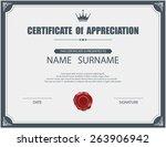 vector certificate template. | Shutterstock .eps vector #263906942