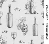 seamless pattern with pencil... | Shutterstock . vector #263907965