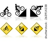 signs showing a person riding a ... | Shutterstock .eps vector #263914238