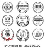 premium quality laurel wreath... | Shutterstock .eps vector #263930102