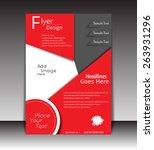 vector flyer  brochure ... | Shutterstock .eps vector #263931296