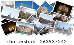 postcard collage from rome ... | Shutterstock . vector #263937542