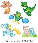baby icons series. animals.... | Shutterstock .eps vector #2639714