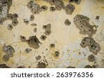 wall background with bullet hole | Shutterstock . vector #263976356