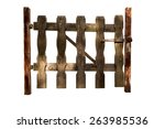 Isolated Wooden Gate