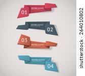 vector infographic origami... | Shutterstock .eps vector #264010802