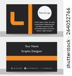 simple modern black orange... | Shutterstock .eps vector #264052766