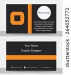 simple modern black orange... | Shutterstock .eps vector #264052772