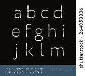 thin sliver steel font  ... | Shutterstock .eps vector #264053336