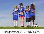 diverse group of boys and girls ... | Shutterstock . vector #264071576