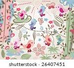 vector floral background | Shutterstock .eps vector #26407451