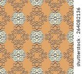 ornamental wallpaper with...   Shutterstock .eps vector #264082136