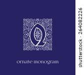 ornate and elegant monogram... | Shutterstock .eps vector #264082226