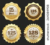 four gold celebrating 125 years ... | Shutterstock .eps vector #264084908