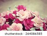 vintage roses | Shutterstock . vector #264086585