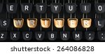 typewriter with writer buttons | Shutterstock . vector #264086828