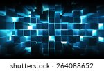 a bulk layer of metal squares | Shutterstock . vector #264088652