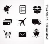 delivery icon set. vector art. | Shutterstock .eps vector #264095918
