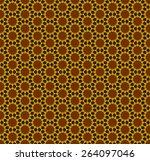 hexagon pattern  vector... | Shutterstock .eps vector #264097046