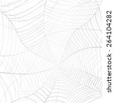 abstract grey spider web or... | Shutterstock . vector #264104282
