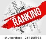 ranking word cloud  business... | Shutterstock .eps vector #264105986