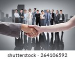 handshake between two women... | Shutterstock . vector #264106592