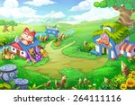 wonder land   scene design | Shutterstock . vector #264111116