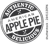 apple pie stamp | Shutterstock .eps vector #264113096