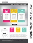 website design vector template | Shutterstock .eps vector #264113552
