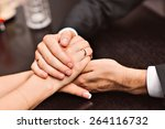holding hands | Shutterstock . vector #264116732