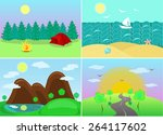 space for recreation and travel ... | Shutterstock .eps vector #264117602
