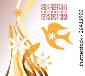 floral bird abstract design... | Shutterstock .eps vector #26411903